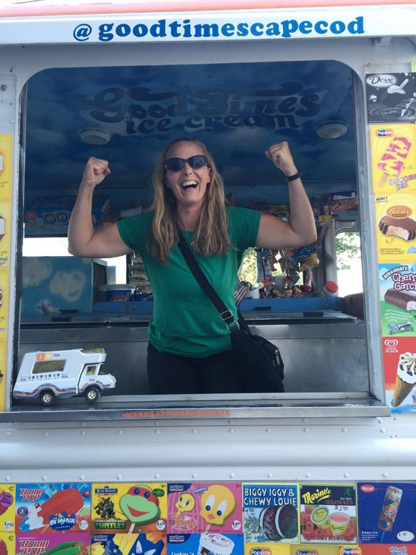 Melissa of Fresh Start Services in Cape Cod on An Ice Cream Truck